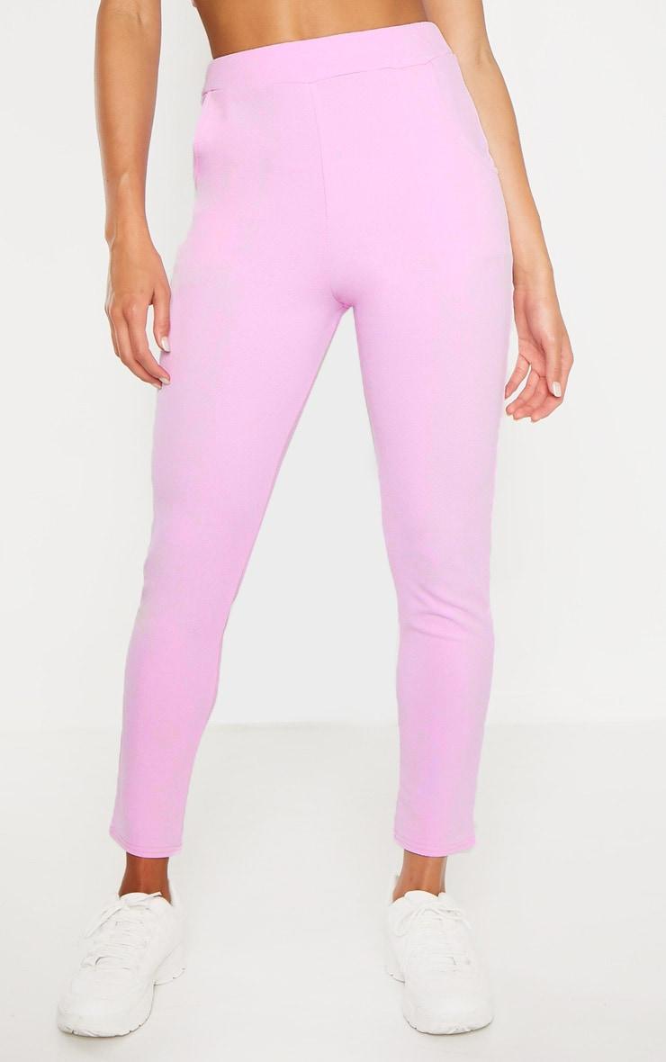 Lilac Crepe Skinny Pants 2