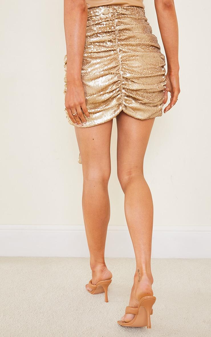 Gold Sequin Drape Skirt 3