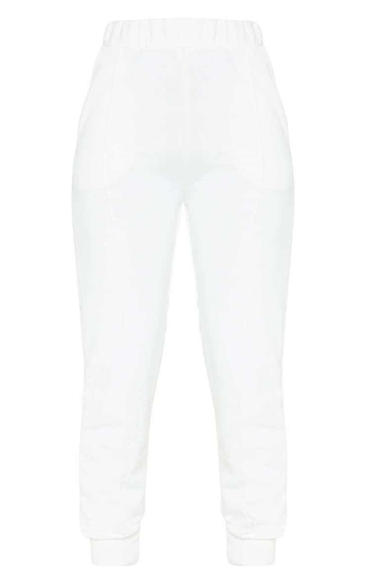 Cream Front Seam Sweat Jogger 3