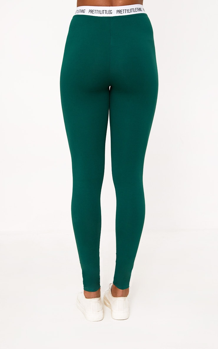 Green Prettylittlething Leggings 4