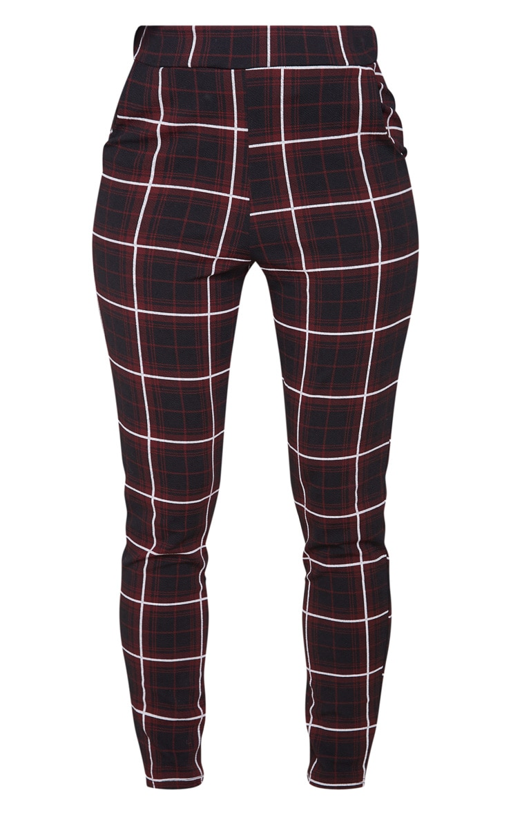 Red Check Skinny Trouser 3