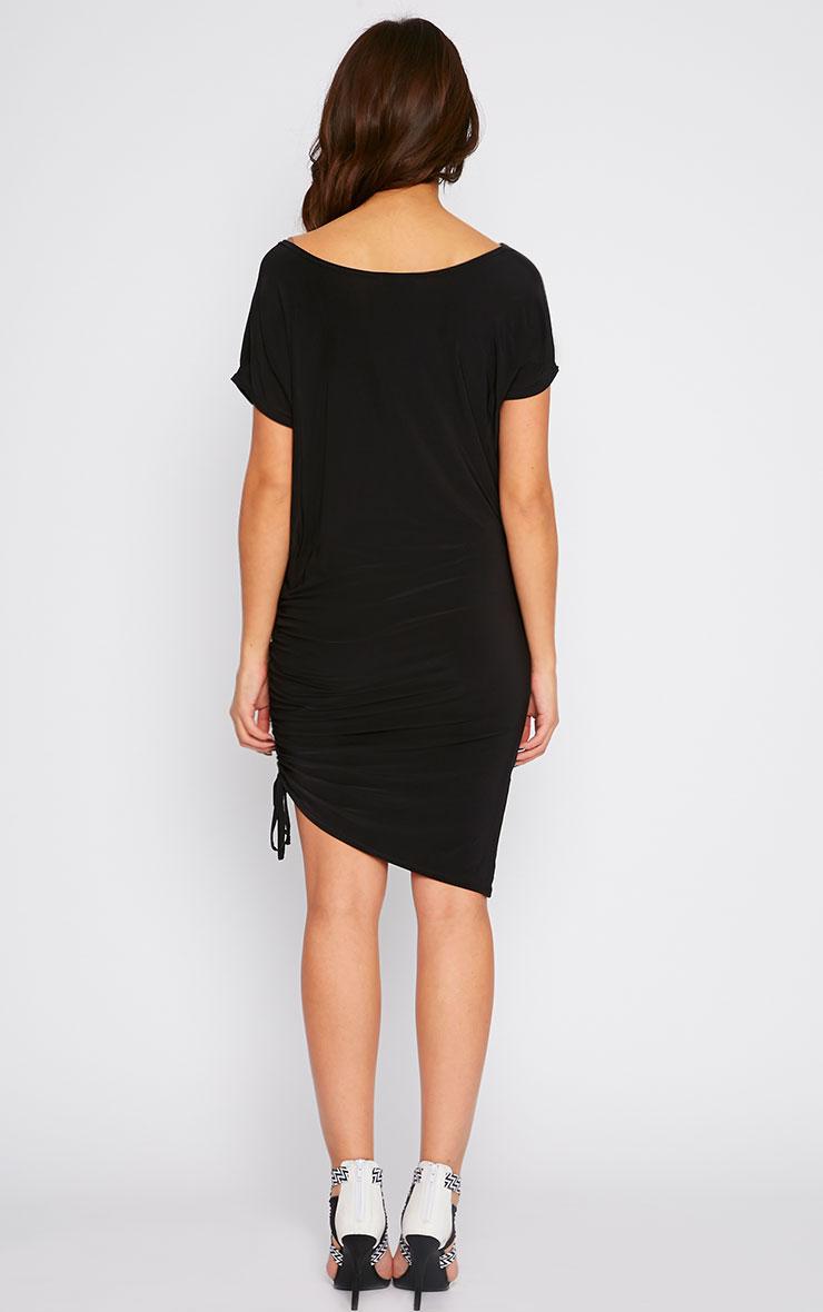 Joette Black Slinky Gathered Dress 2