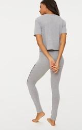 b7de1674505c17 PRETTYLITTLETHING Grey Legging Pyjama Set | PrettyLittleThing