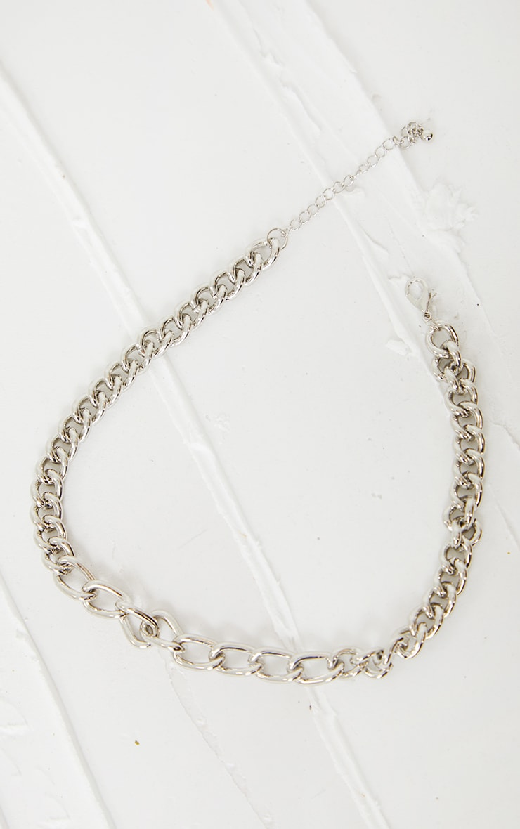Silver Assorted Curb Chain Necklace 3