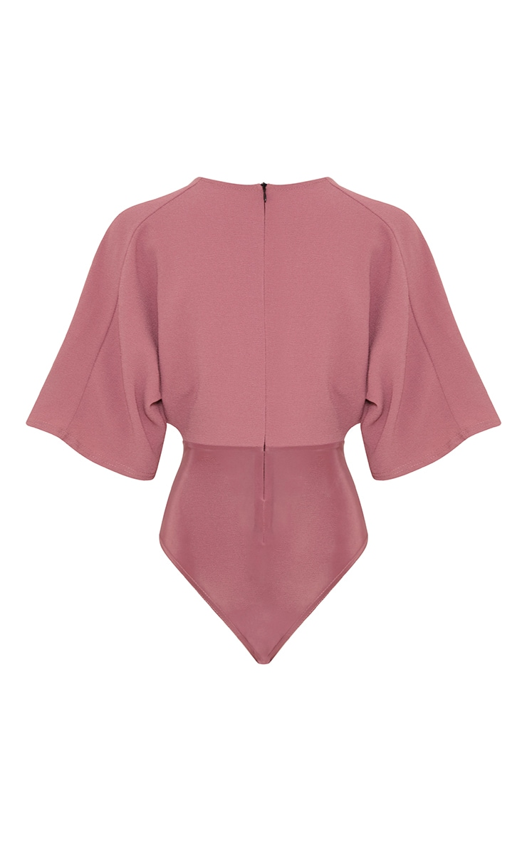 Tiegan Rose Wide Sleeve Plunge Bodysuit 4