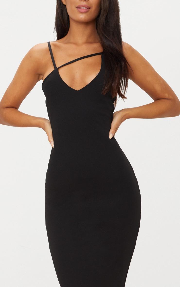 Black Cross Strap Detail Midi Dress 5