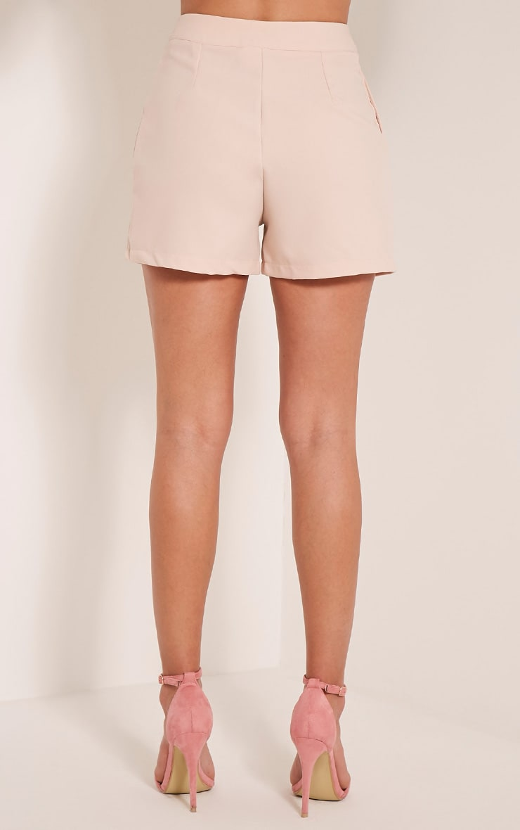 Viona Blush Tailored Shorts 5