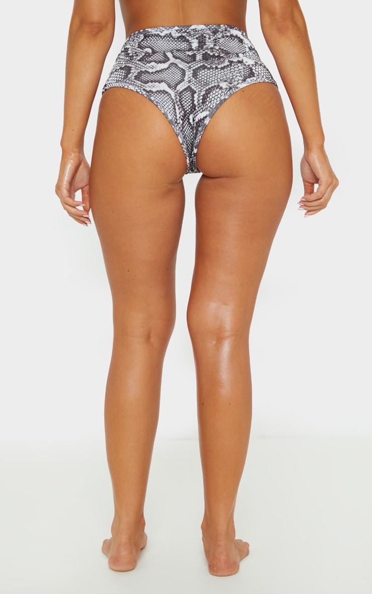Snake Mix & Match High Waisted Bikini Bottom 4