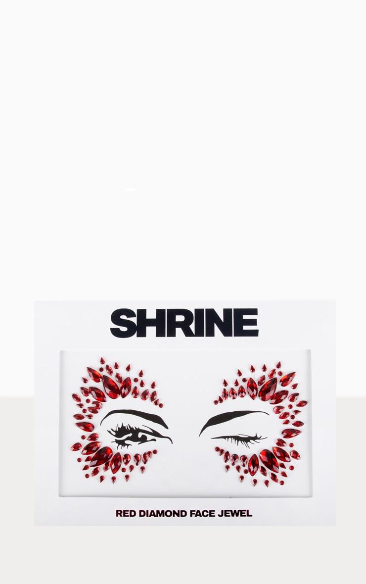 The Gypsy Shrine - Bijoux de visage Halloween rouges 1