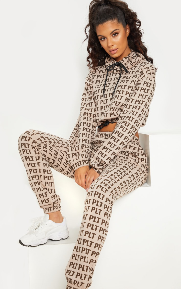 PRETTYLITTLETHING Stone Printed Funnel Neck Jumper 5