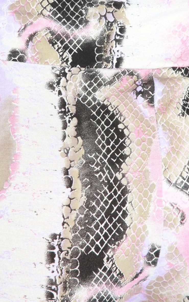 Irsa Pink And Purple Snakeskin Print Leggings 5