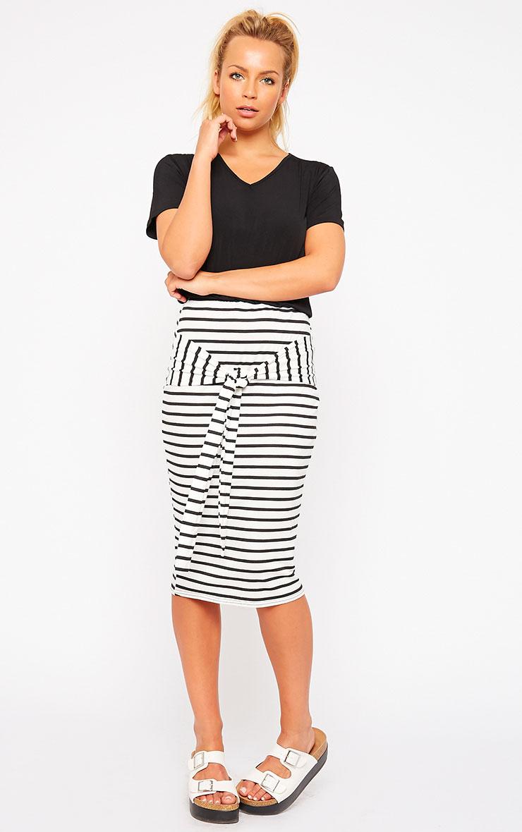 Raemona Stripe Tie Midi Skirt 1