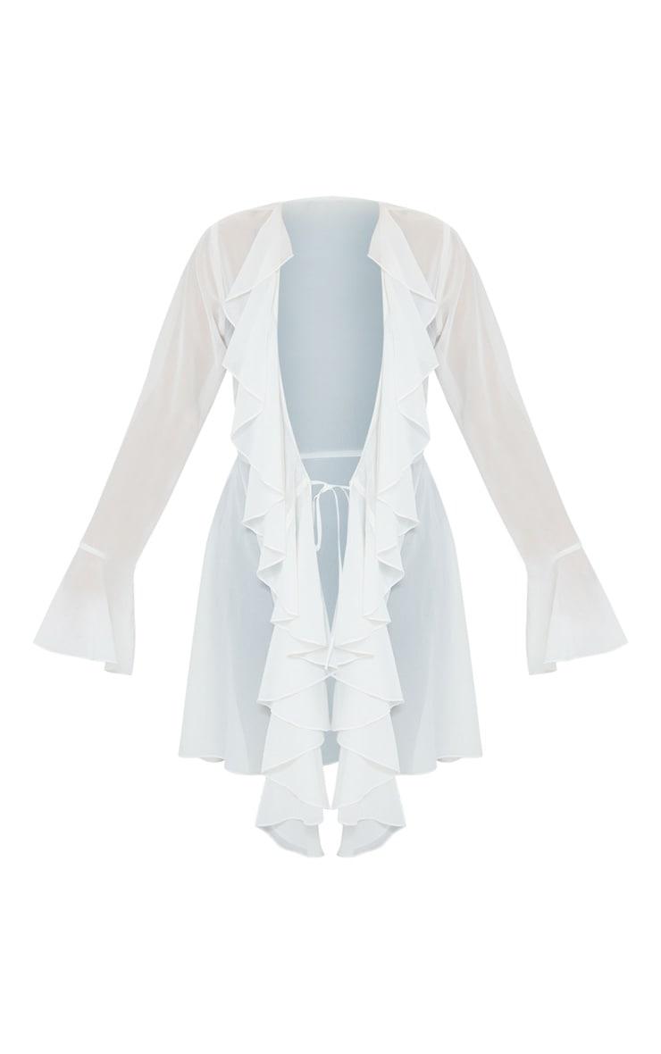 White Extreme Frill Mini Kimono 5