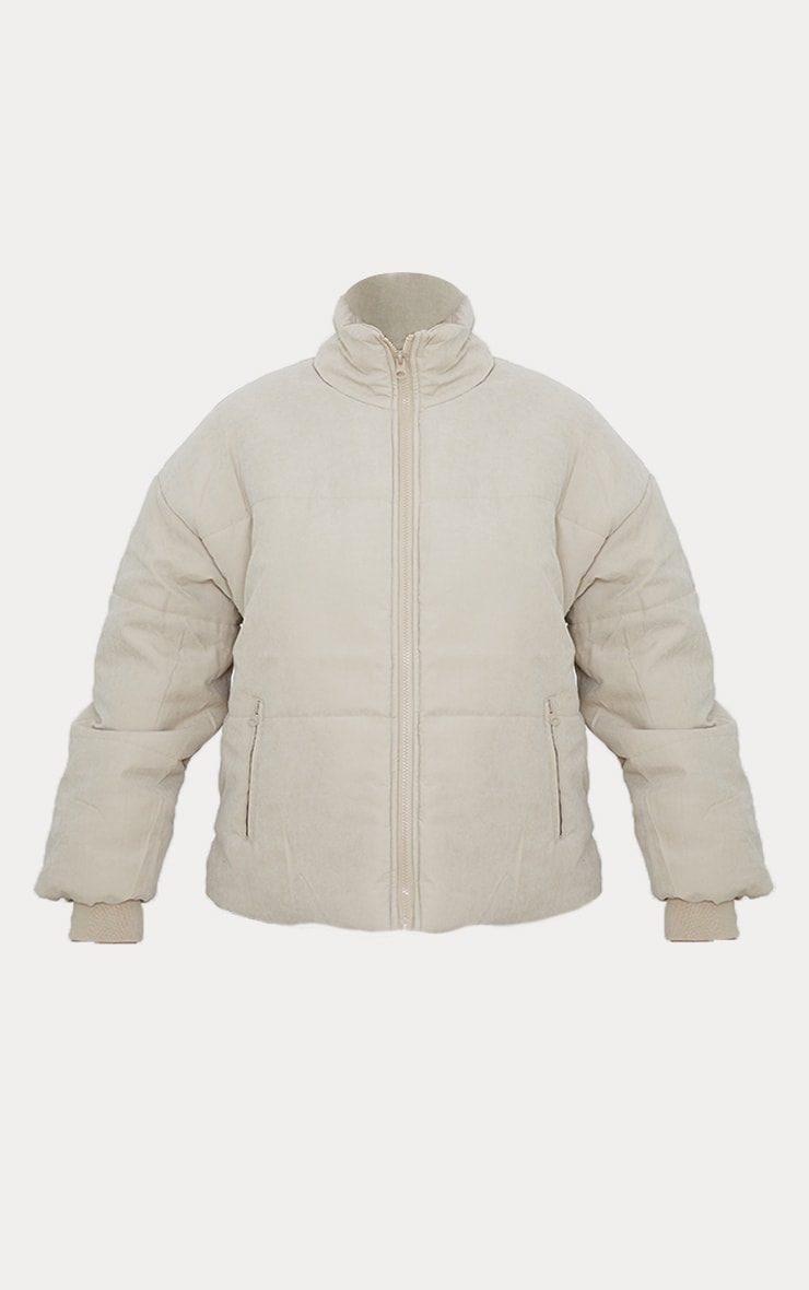 Stone Oversized Peach Skin Cuff Puffer Jacket 5