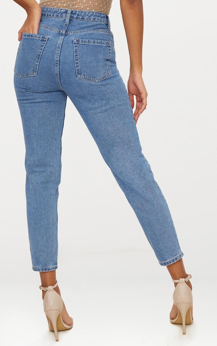 Straight Leg Mid Wash Jean 3
