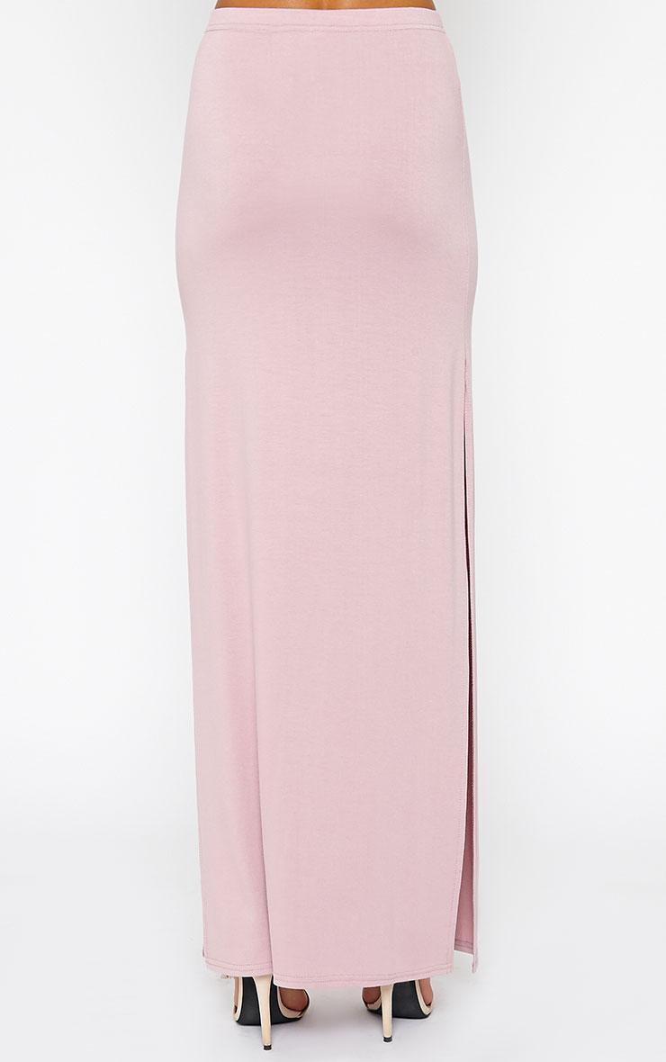 Kayley Mauve Split Jersey Maxi Skirt 4