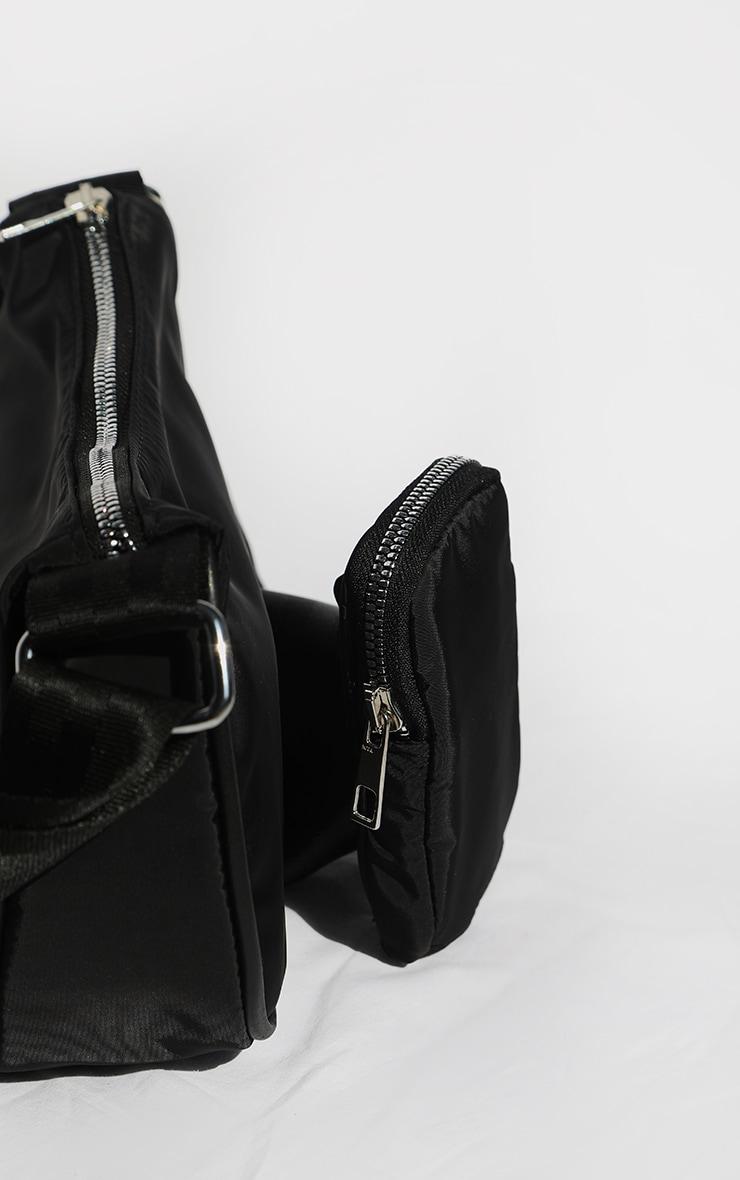 Black Multi Pockets Cross Body Bag 3