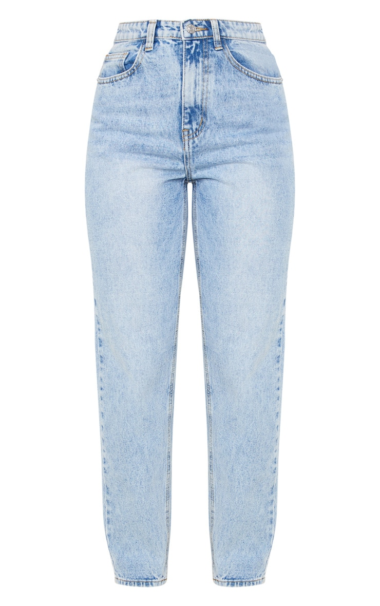 PRETTYLITTLETHING Light Wash Acid Mom Jean 3