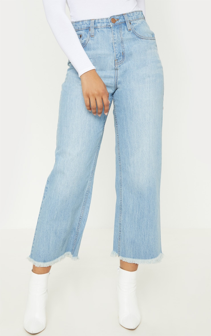 Tall Light Wash Cropped Wide Leg Jean 2