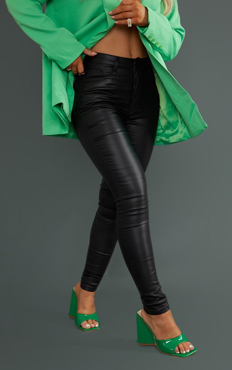Black 5 Pocket Coated Skinny Jean 2