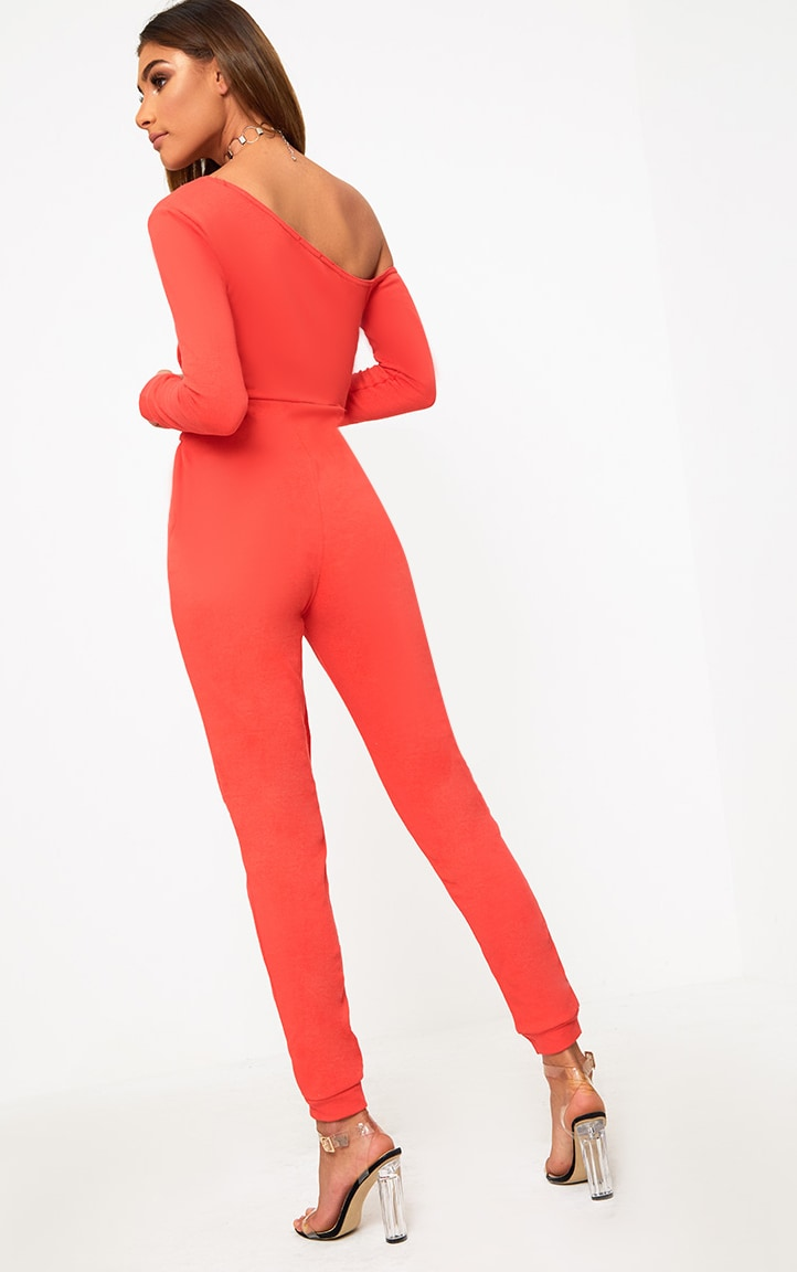 Red Sweat Jumpsuit 2