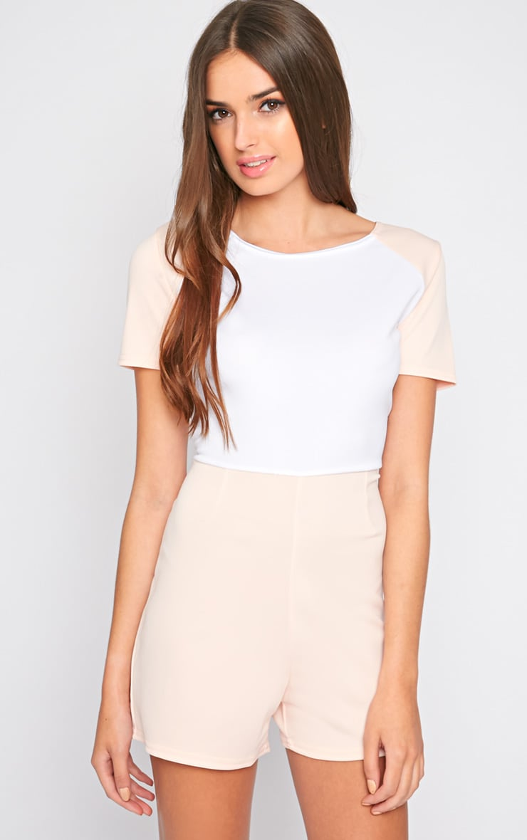 Sandra Nude Colour Block Playsuit 3