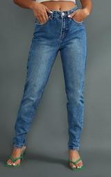 Petite - Jean délavé coupe mom  2