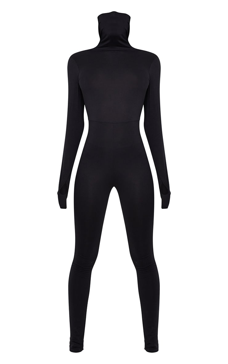 Tall Black Jersey Mask Jumpsuit 5