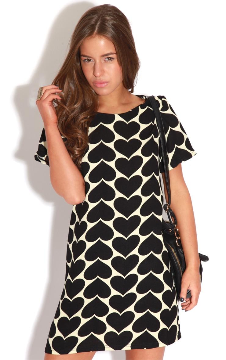 Maria Black & Cream Love Heart Dress 1