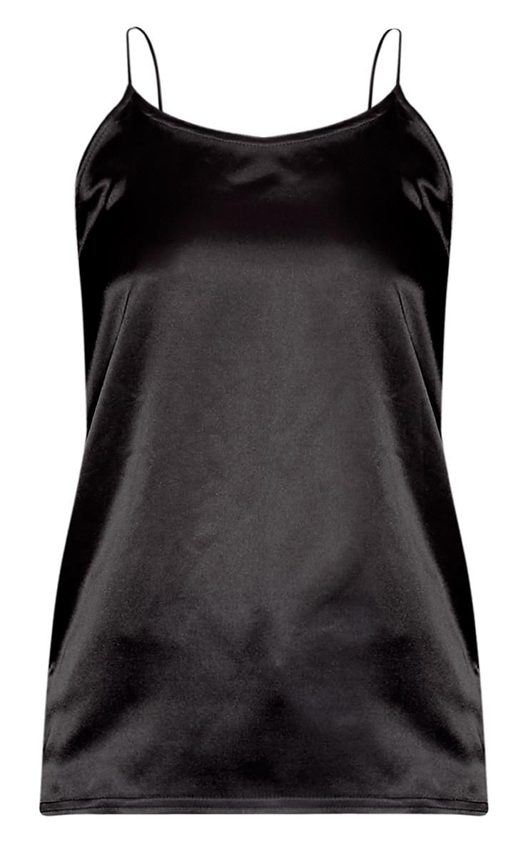 Chelsie Black Satin Cami Top 3