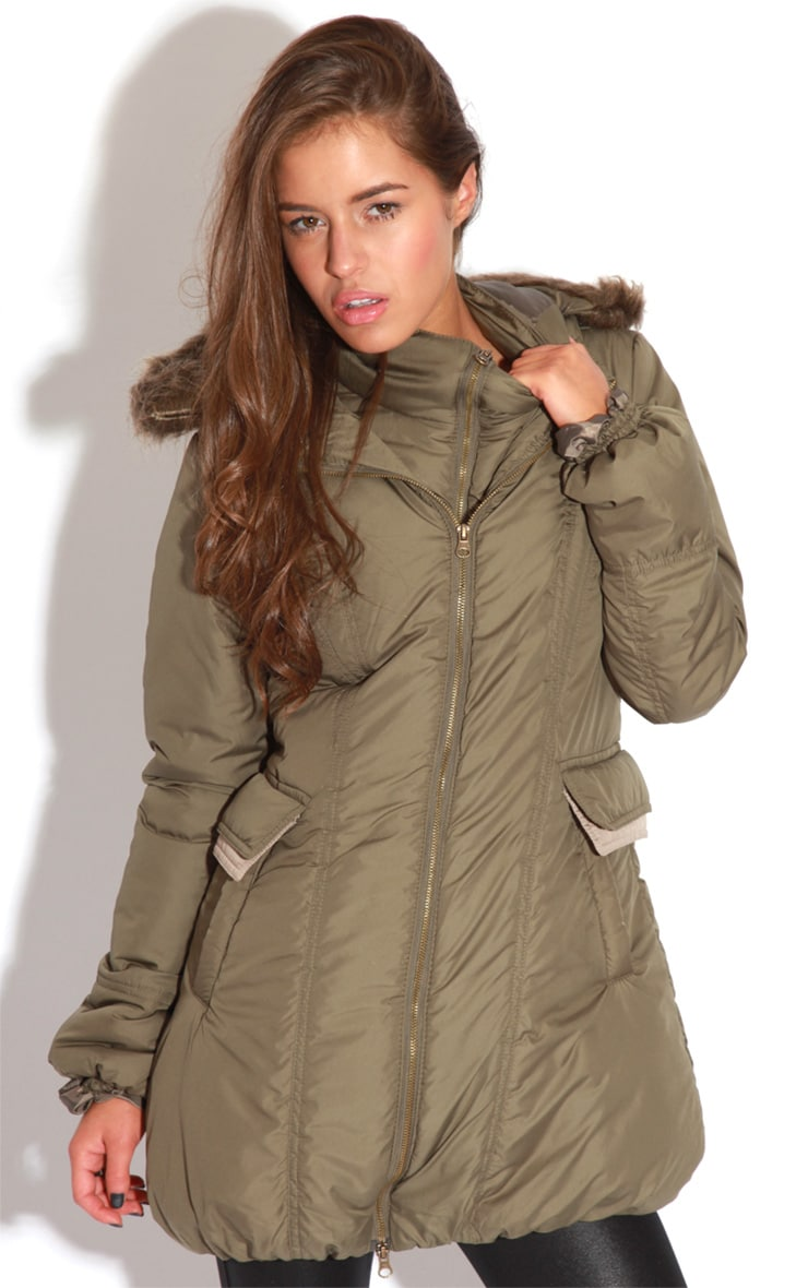Cyra Khaki Parka With Fur Hood -16 4