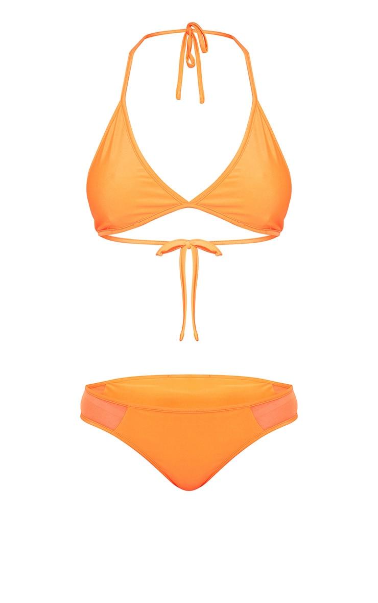 Orange 3 Piece Bikini Set 4