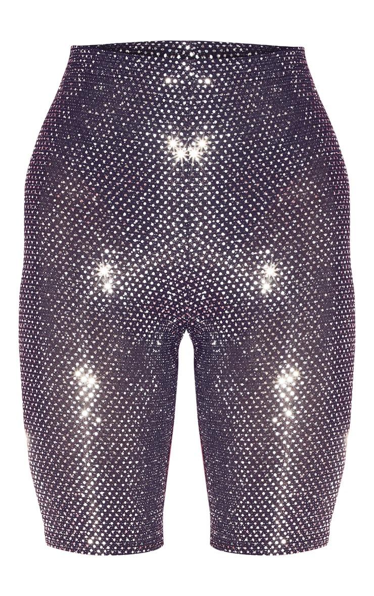 Short-legging argenté métallisé à sequins 3