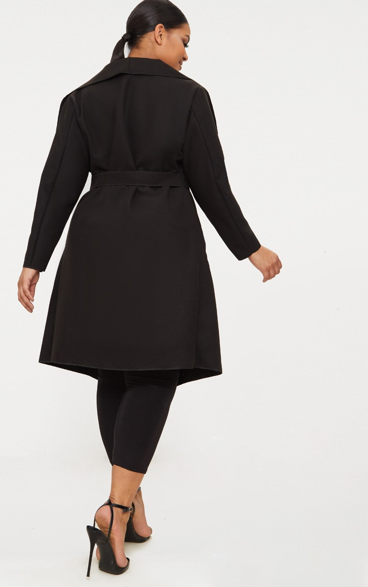 Plus Black Waterfall Coat 2