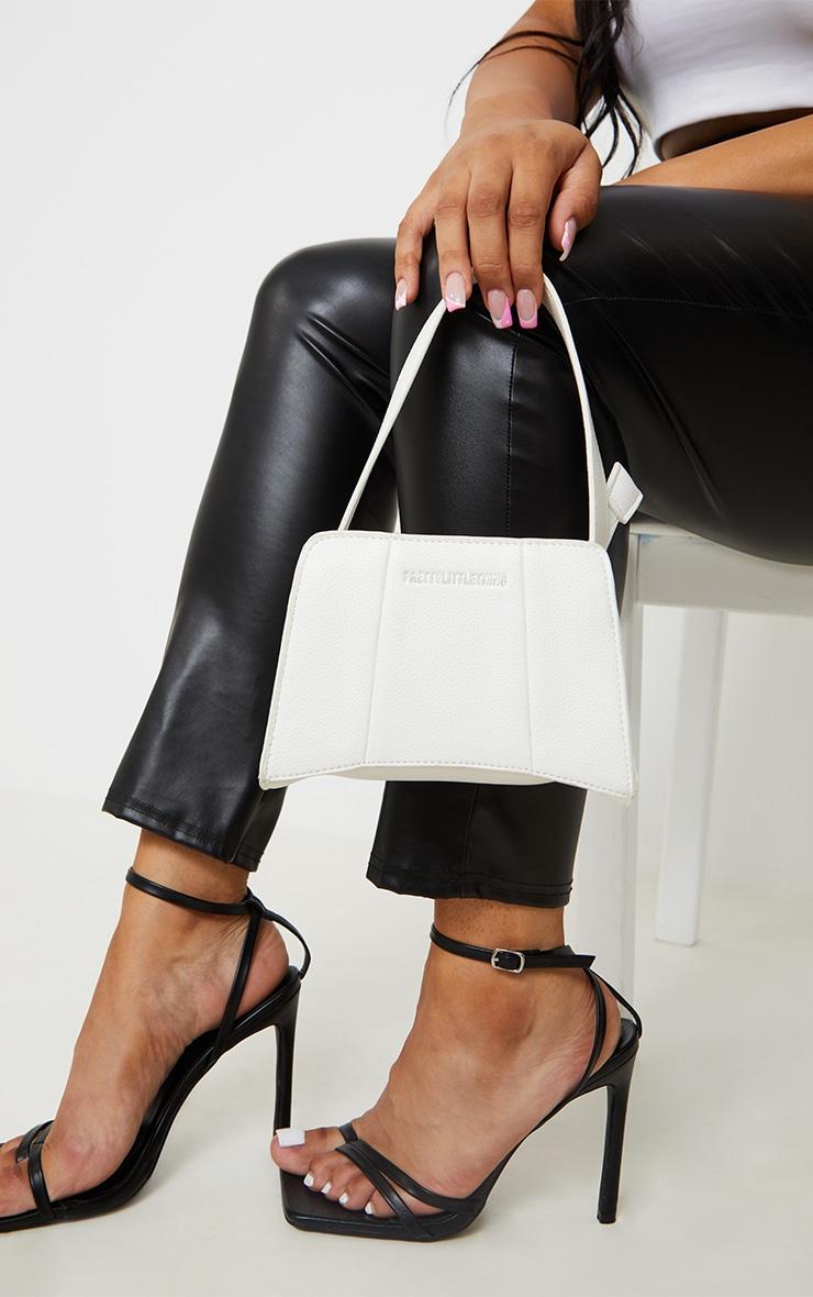 PRETTYLITTLETHING White Triangular Shoulder Bag 1