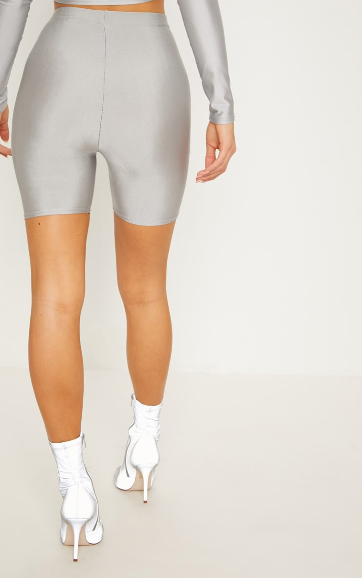 Silver Disco Bike Short 4