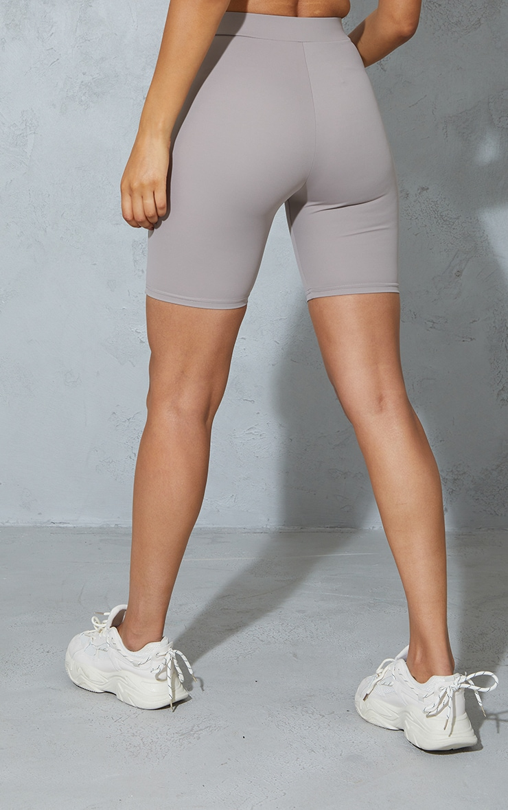 Taupe Contrast Bike Shorts 3