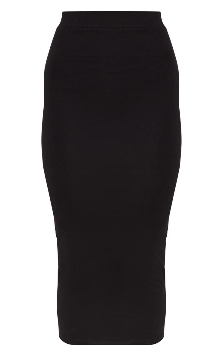 Black Second Skin Bodycon Midaxi Skirt 3