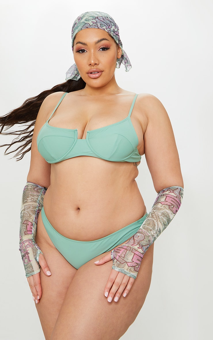 Plus Jade Underwired Balconette Bikini Top 6