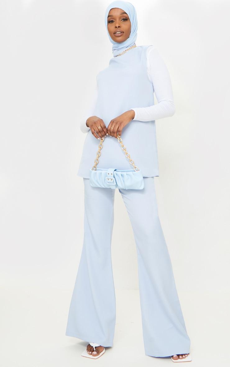 Pale Blue Kick Flare Pants image 1