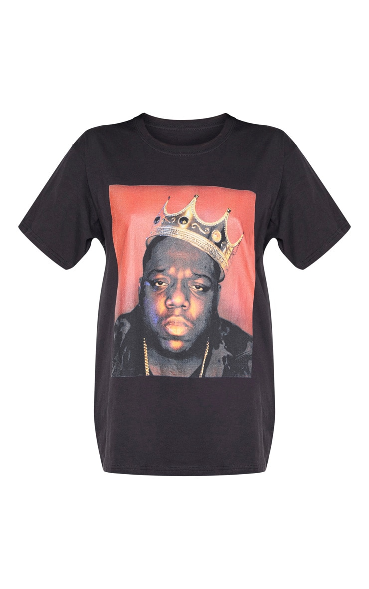 Black Biggie Crown Print T Shirt 3
