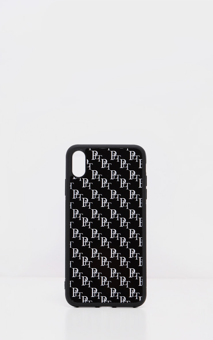 PRETTYLITTLETHING Black Monogram XMAX iPhone Case  2
