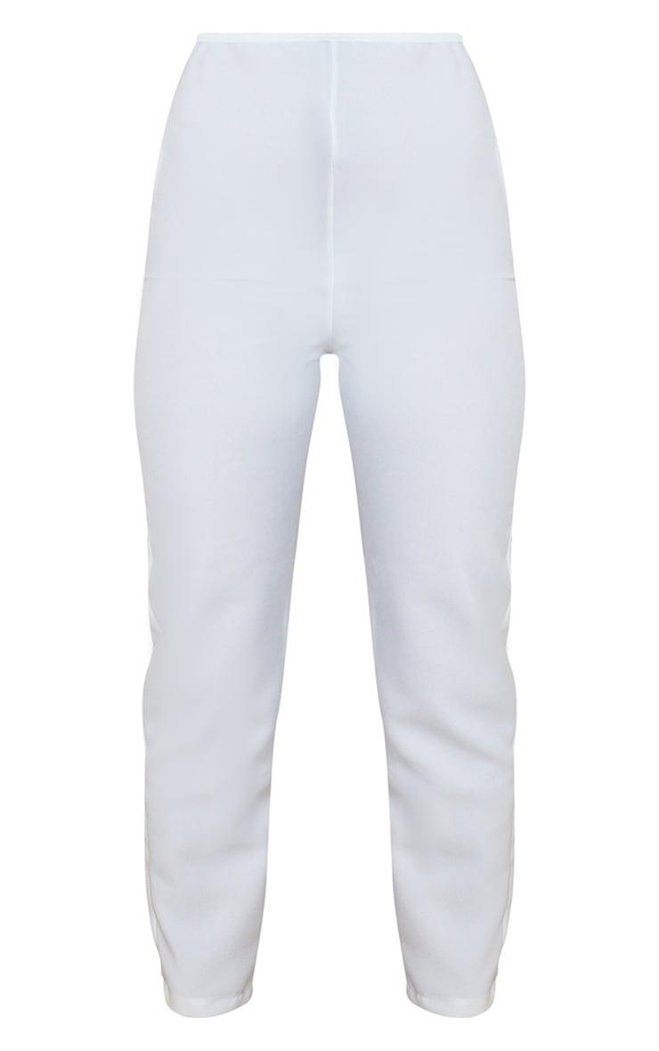 Petite Cream Woven Ankle Grazer Pants 5