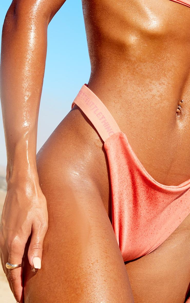 PRETTYLITTLETHING Coral Tanga Bikini Bottoms 5