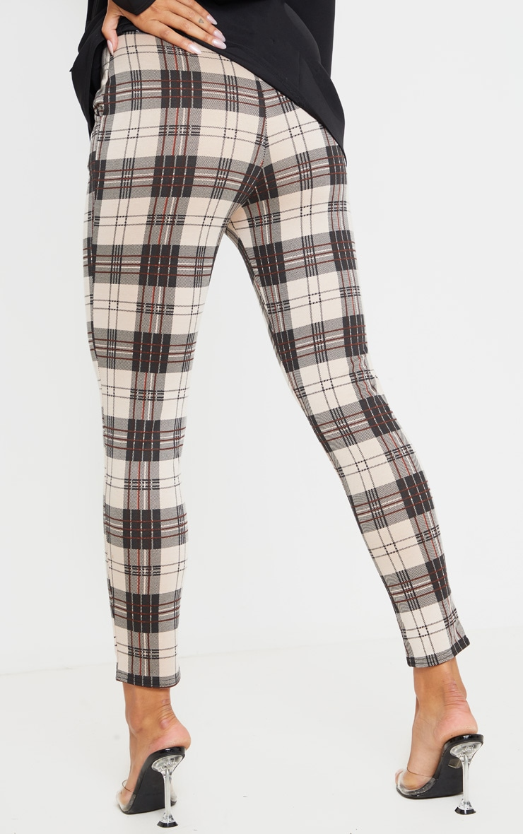 Stone Checked Skinny Pants 4