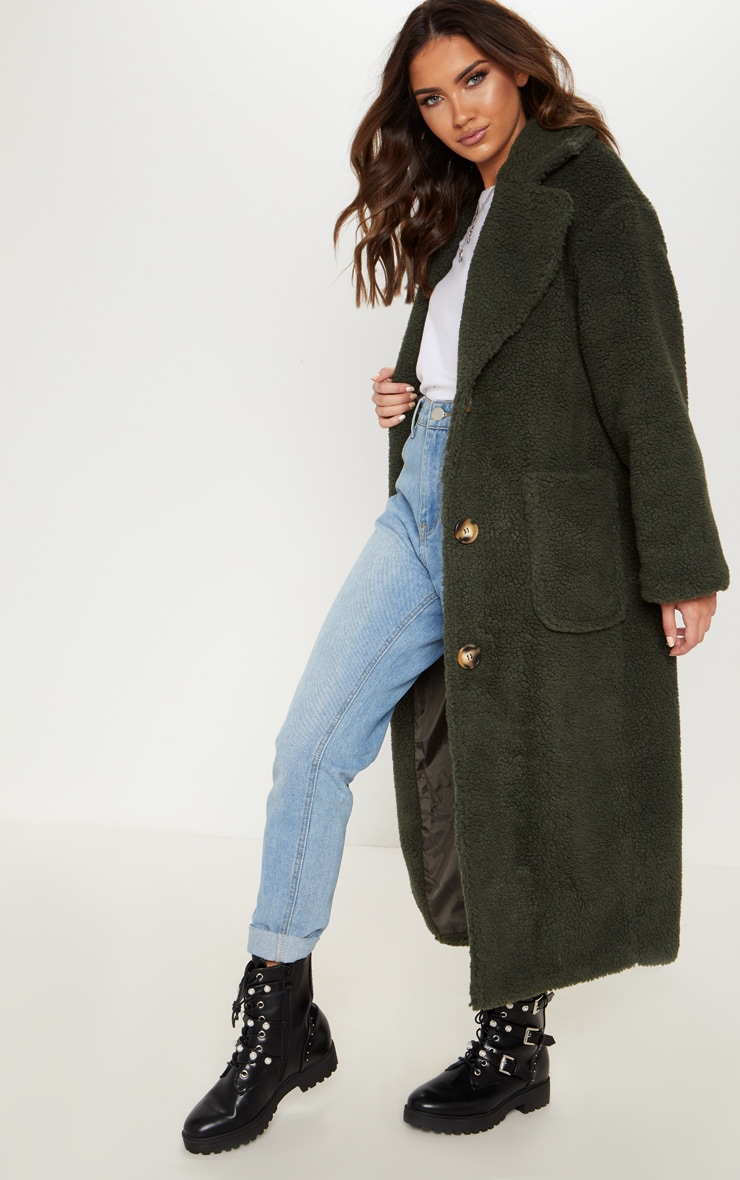 Green Borg Longline Coat  4