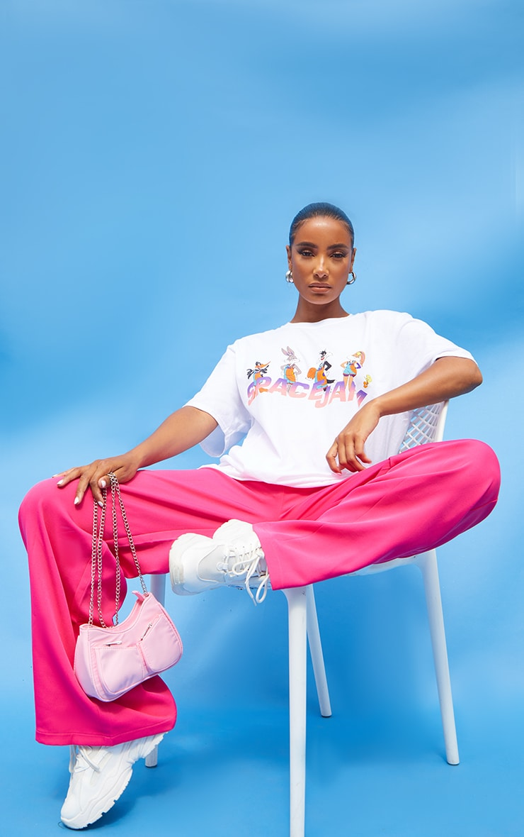 White Space Jam Oversize Printed  T Shirt 3