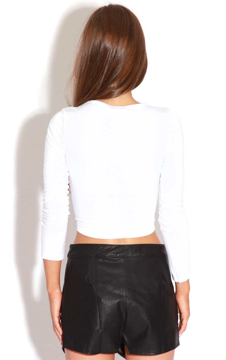 Maria Faux Leather Cross Over Skort-8 3