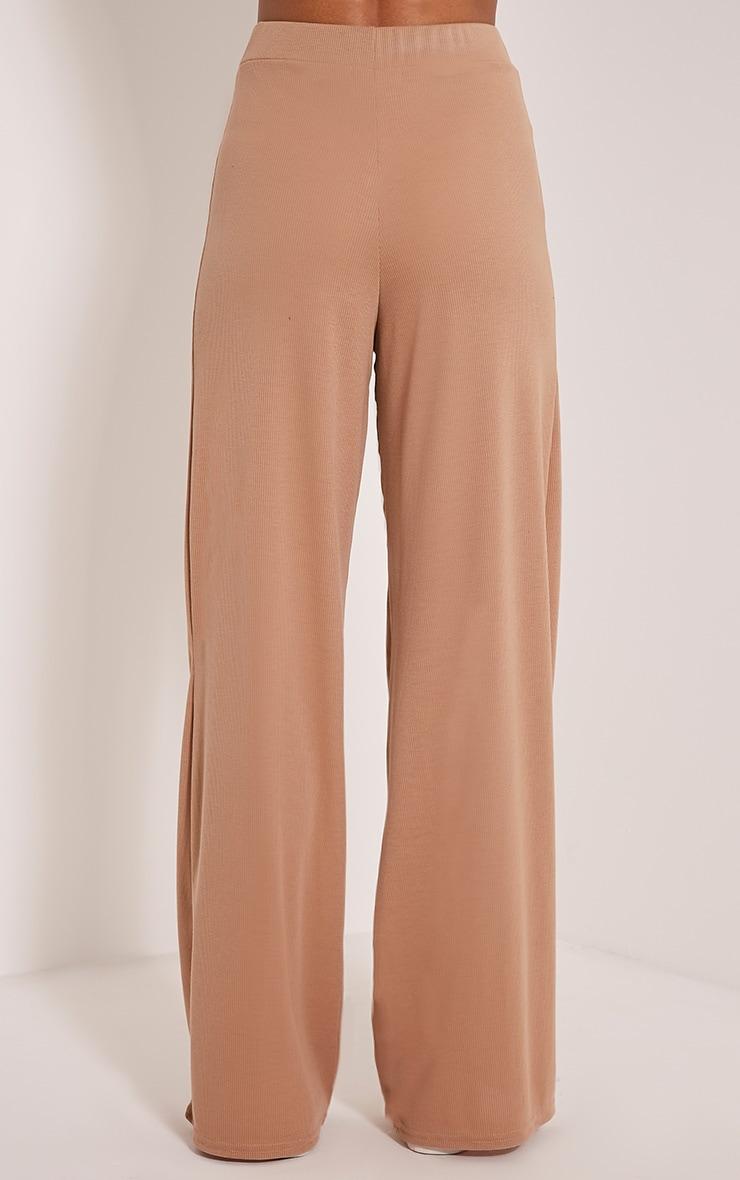Flossy Camel Wide Leg Joggers 5