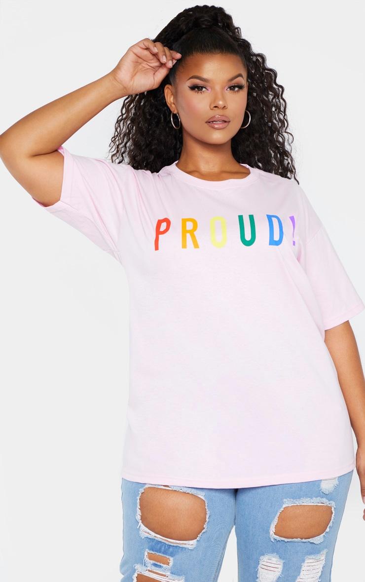 Plus Pink PROUD Oversized T-shirt 3